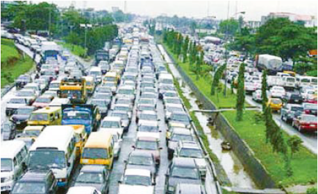 ラゴスの交通渋滞 Traffic congestion in Lagos